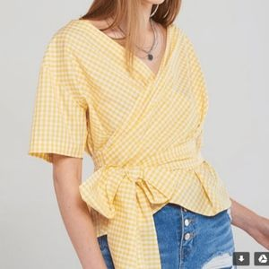Tops - yellow gingham top